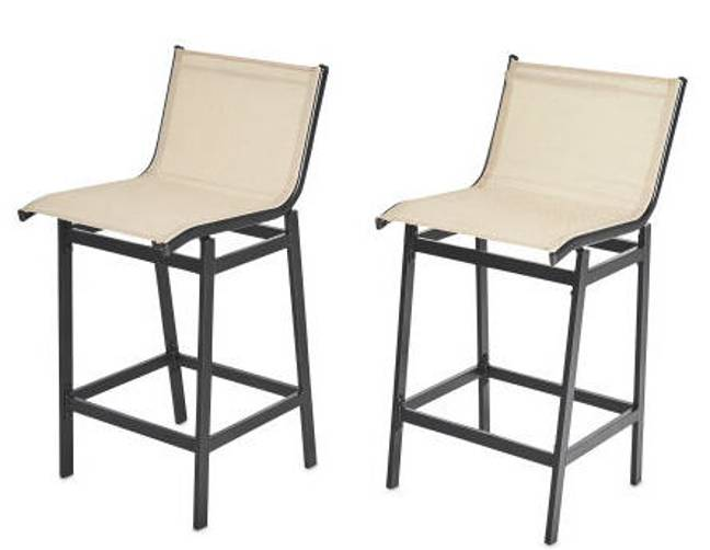 It comes with two bar chairs (Credit: Aldi)