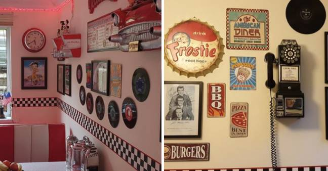 The walls are absolutely kitted out with fun art (Credit: Tracy Campbell)