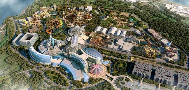 A previously released image shows an ariel shot of the resort (Credit: The London Resort)