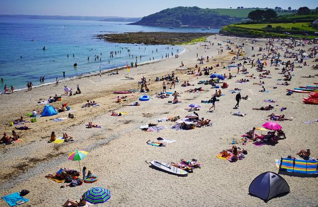 Brits are set to travel to the beach to take advantage of the hot weather (Credit: PA)