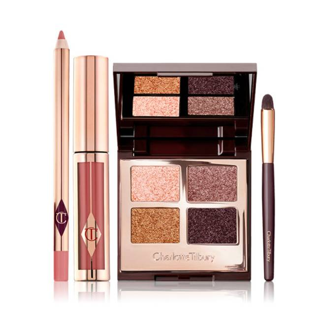 The brand's Zodia Eye and Lip Kit includes shades of Lip Cheat and Hollywood Lips (Credit: Charlotte Tilbury)