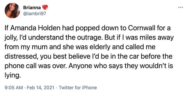 Amanda Holden was defended on social media (Credit: Twitter)