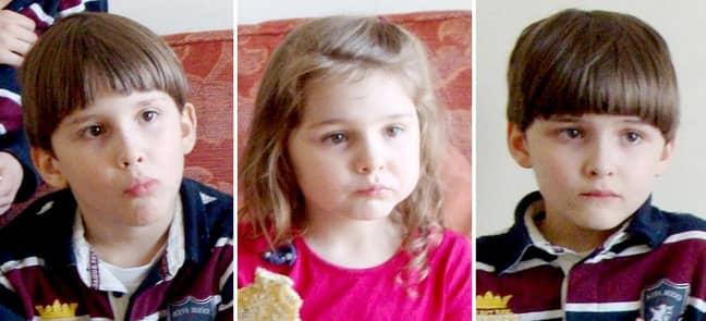 Theresa Riggi's victims, Austin, Cecilia, and Luke Riggi. (Credit: PA)