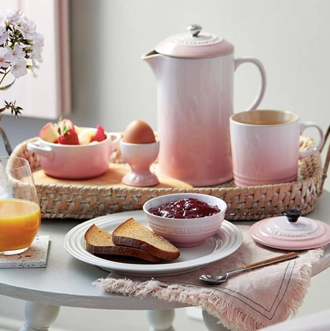 Le Creuset's new Shell Pink collection (Credit: Le Creuset)