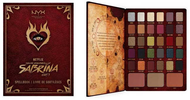 The Spellbook palette contains 30 shades and is priced at £35 (Credit: NYX Professional Makeup x Chilling Adventures of Sabrina Part 3)