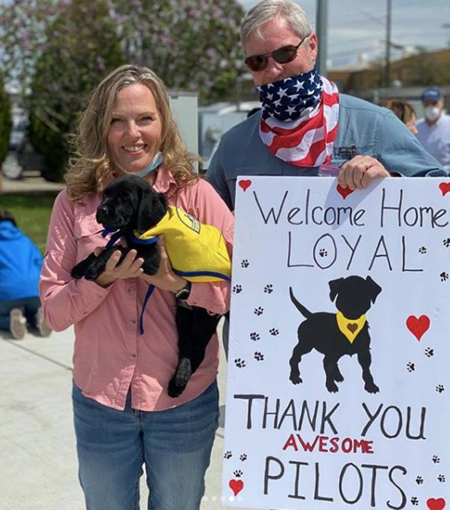 The pilots gave up their time for free to help (Credit: Canine Companions for Independence)