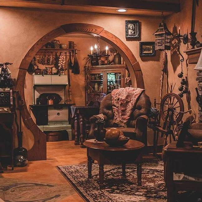 The whimsical interior features all kinds of quirky furniture and accessories (Credit: Airbnb/Hobbit's Dream)