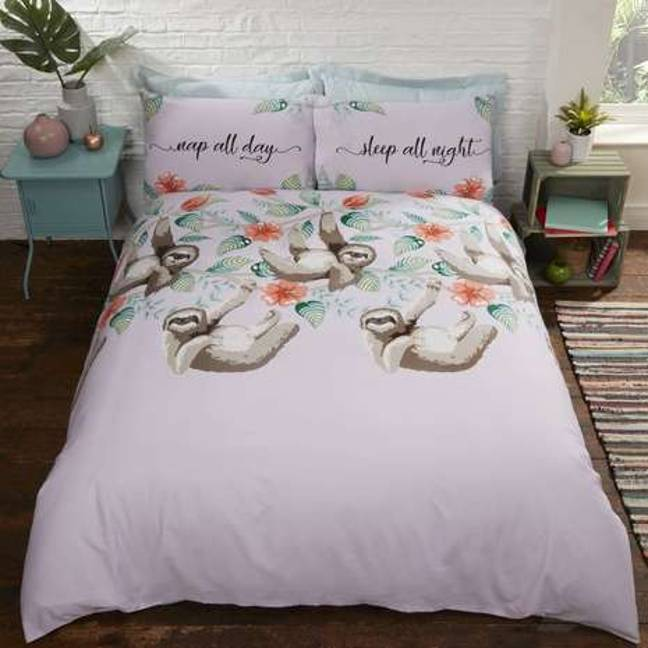 Dunelm also offers adult sloth duvet sets Credit: Dunelm