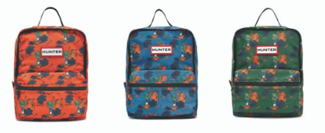 The backpacks will be available for £50 each (Credit: Hunter)