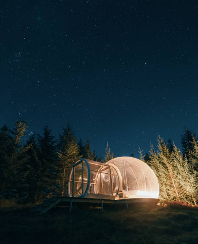 You'll be sleeping under millions of stars (Credit: SWNS)