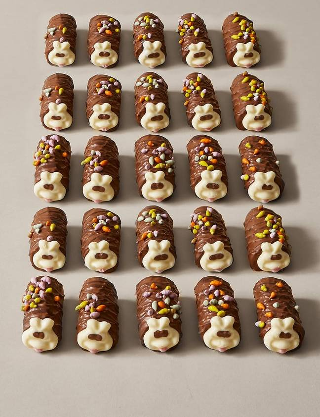 These Mini Colin the Caterpillars are available in sets of 25 and can be pre-ordered from M&S (Credit: M&S)