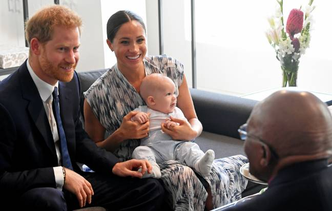 Prince Harry and Meghan Markle rarely share snaps of their son (Credit: PA)