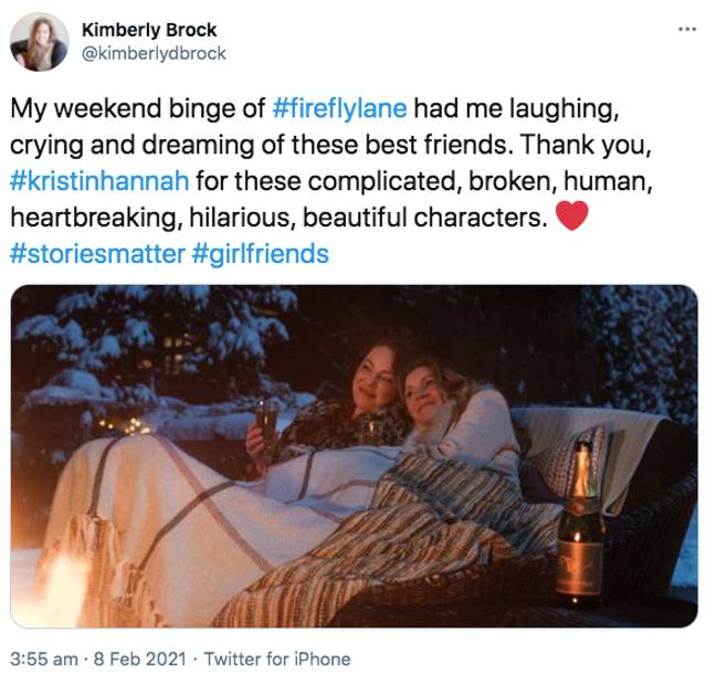Fans loved the soapy drama following the friendship of two women (Credit: Twitter)