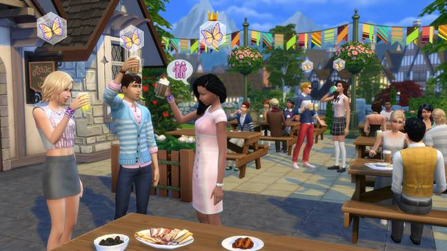You can throw parties for your Sims in a world where coronavirus doesn't exist (Credit: EA Games)