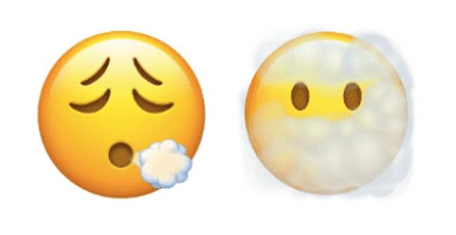 There's a smokey faced emoji and one that appears to be coughing (Credit: Apple)