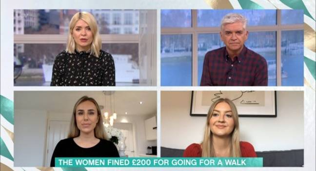 Phillip and Holly spoke to two women on This Morning (Credit: ITV)