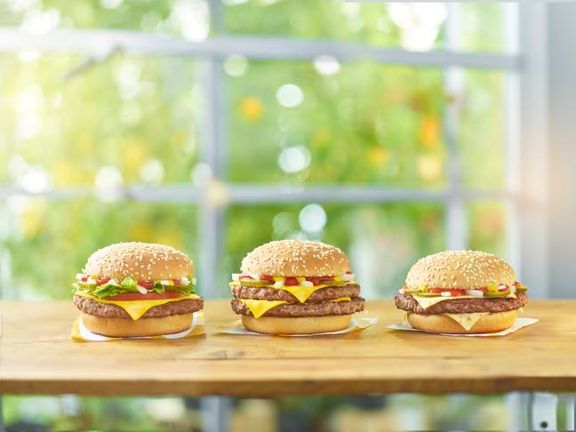 There are now three versions of the delicious burger (Credit: McDonald's)