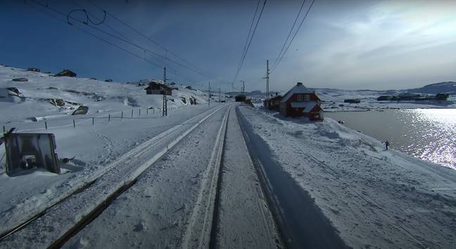 Journey from Bergen on the Norwegian west coast across the mountains to capital Oslo (Credit: YouTube)