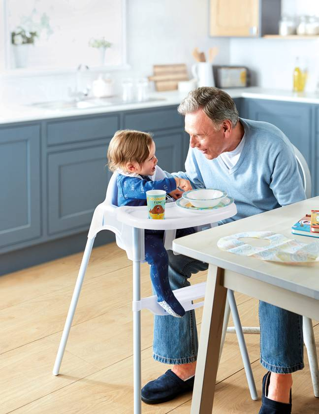 For meal times, the affordable Baby Highchair, priced at £12.99 (Credit: Aldi)