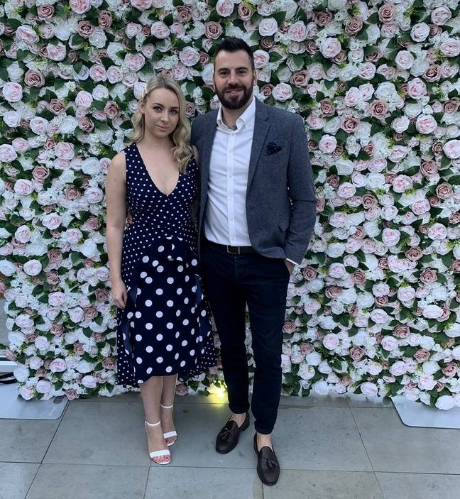 Sophie's fiance has supported her through the ordeal (Credit: SWNS)