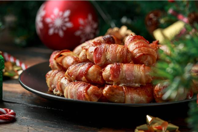 Name a better Christmas snack than pigs-in-blankets? (Credit: Shutterstock)
