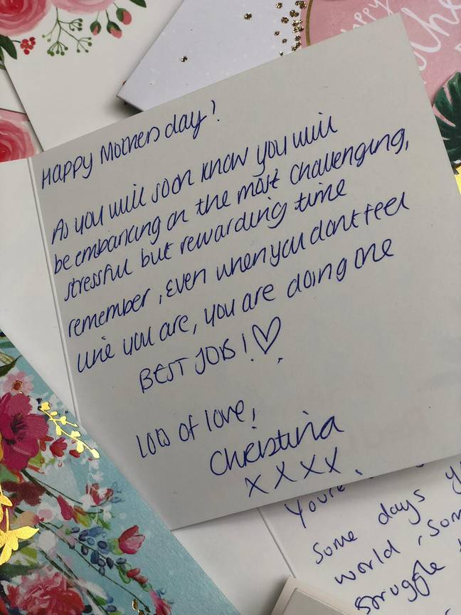 People are writing heartfelt messages to new mums (Credit: Red Letter Days)