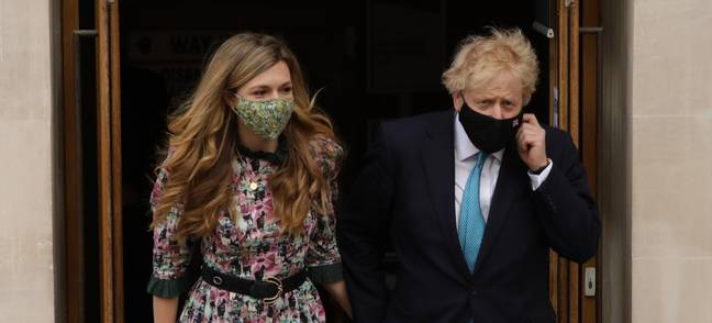 Boris and Carrie got engaged in 2019 (Credit: PA)