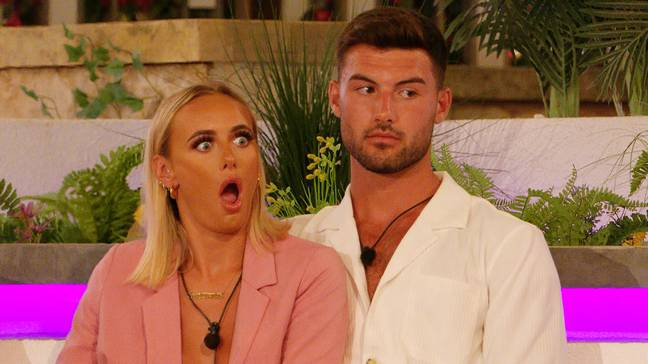 Millie looking shocked at a recoupling in Love Island (Credit: ITV)