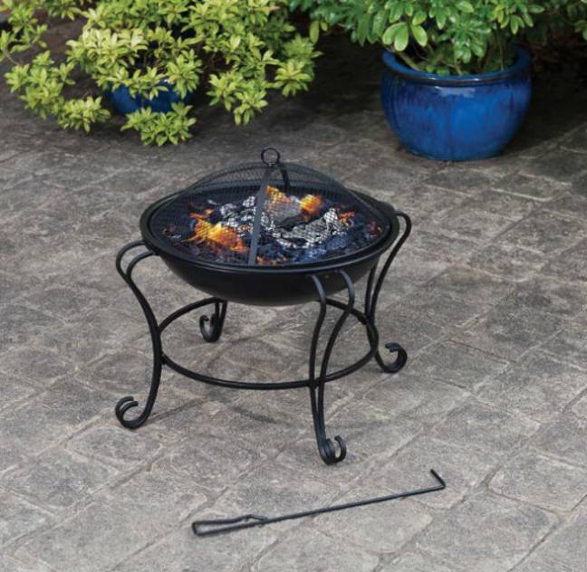 The Boston fire pit costs £30 (Credit: B&M)