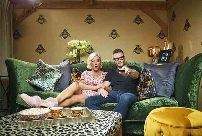 TV star Denise Van Outen returns to the show alongside her partner Eddie Boxhall (Credit: Channel 4)