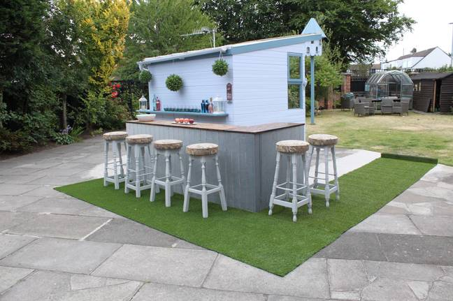 We chatted to Craig Phillips who has also created his own outdoor bar (Credit: Craig Phillips)
