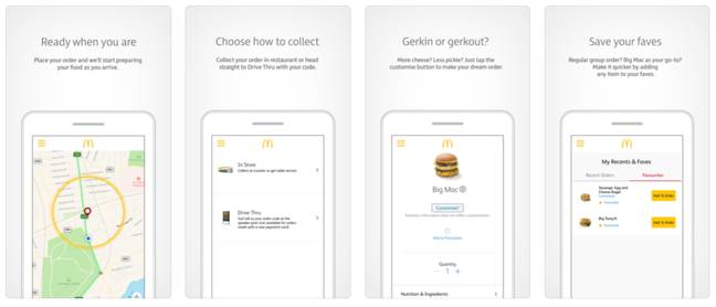 The My McDonald's App is available on Google Play and the App Store. Credit: McDonald's