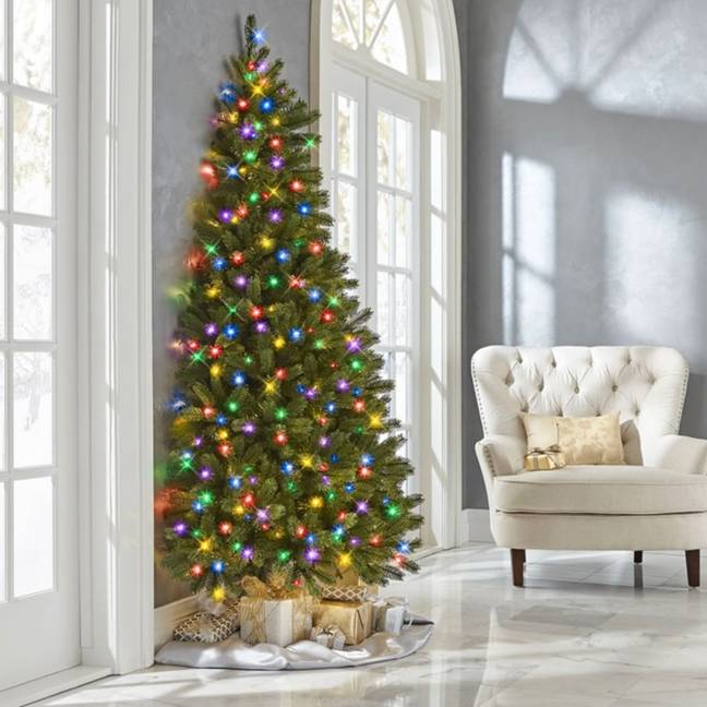 The half tree comes in a multicolour option too (Credit: Hammacher Schlemmer)