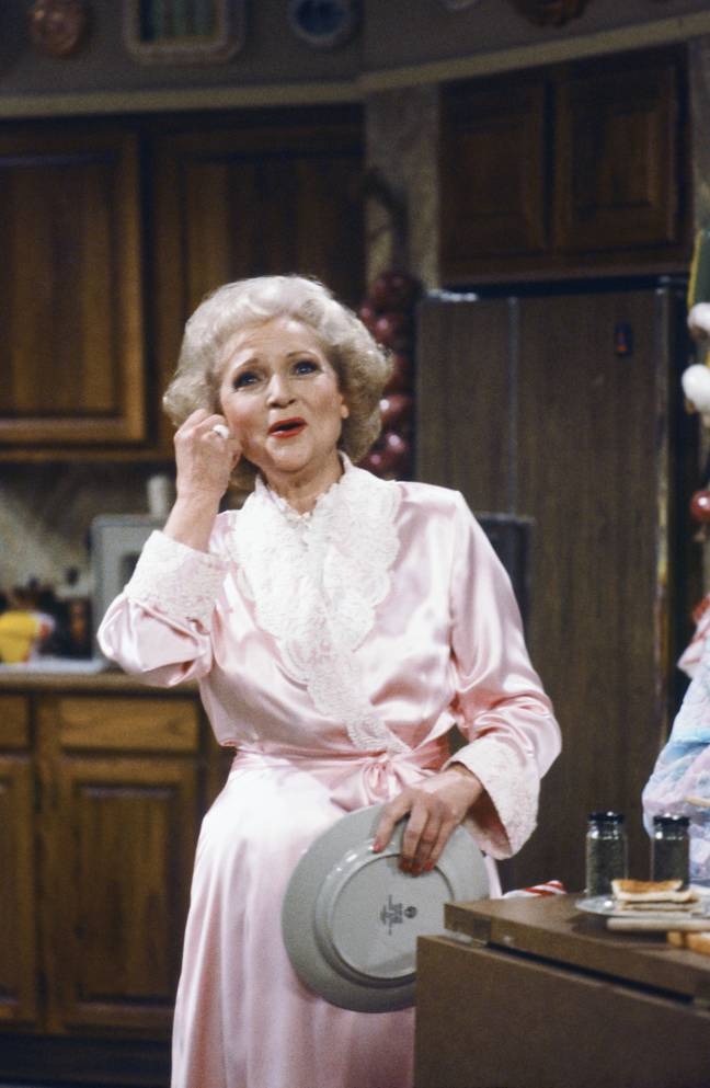 Betty White and the other leads in Golden Girls all won Emmy's while on the show (Credit: NBC)