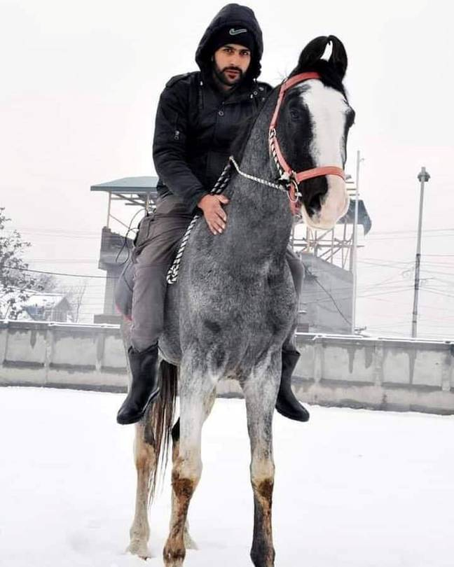 Shiraz decided to deliver to locals on horseback (Credit: SWNS)
