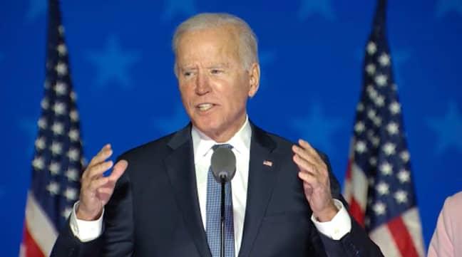 Democratic candidate Joe Biden will be sworn in today (Credit: PA)