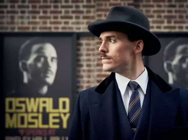Oswald Moseley (Sam Claflin) was Tommy's biggest enemy in the season (Credit: BBC)