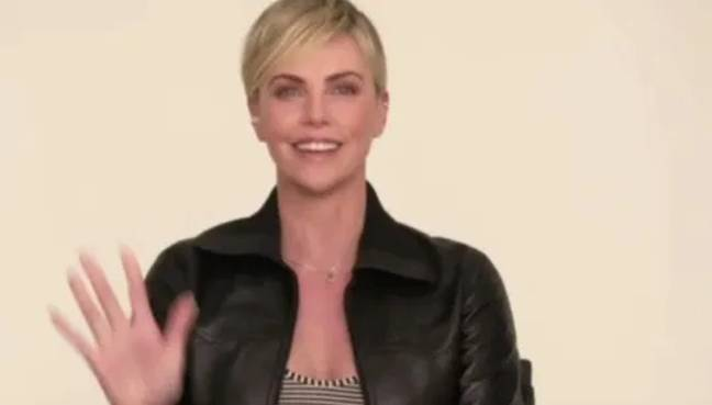 An amiable Charlize cleared up confusion as to how to pronounce her name (Credit: The One Show)