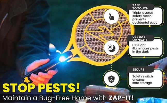 Amazon electric bug swatting racket (Credit: Amazon)