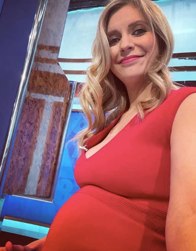 Rachel is pregnant with baby number two (Credit: Instagram/ Rachel Riley)