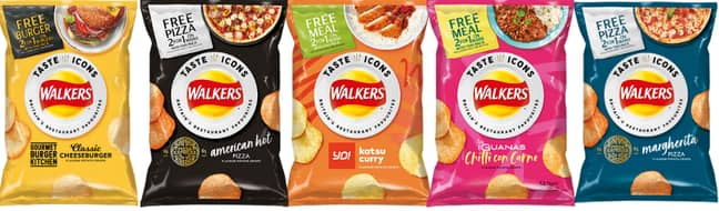 There are six new flavours in total (Credit: Walkers)