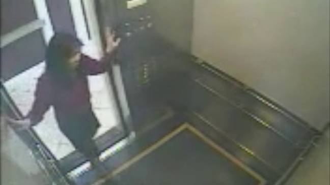 The CCTV footage of Elisa Lam in the elevator led to lots of speculation about her disappearance (Credit: Cecil Hotel/Netflix)