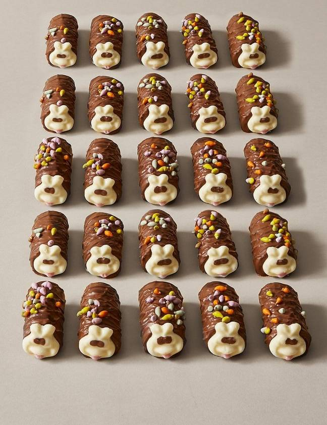 These Mini Colins the Caterpillars come in sets of 25 and can be pre-ordered for 24th August (Credit: M&S)