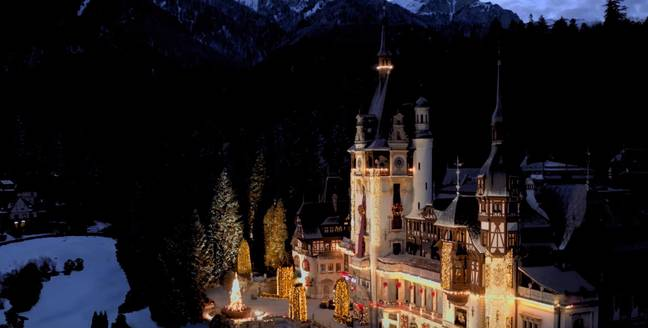 The Royal castle of Aldovia in the film is set to give you all the festive feels (Credit: Netflix)