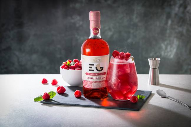 The brand already has a liqueur in raspberry flavour but now has launched a full strength version (Credit: Edinburgh Gin)