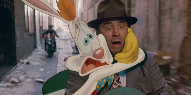 The movie's mix of live-action and classic animation is reminiscent of 'Who Framed Roger Rabbit?' (Credit: Buena Vista Pictures)