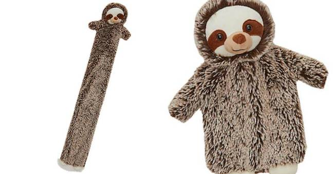 You can also get two sloth hot water bottles (Credit: Dunelm)