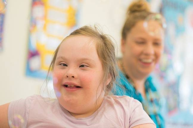 Ysgol y Deri caters to pupils aged 3 to 19 who live with a range of disabilities and learning difficulties (Credit: BBC)
