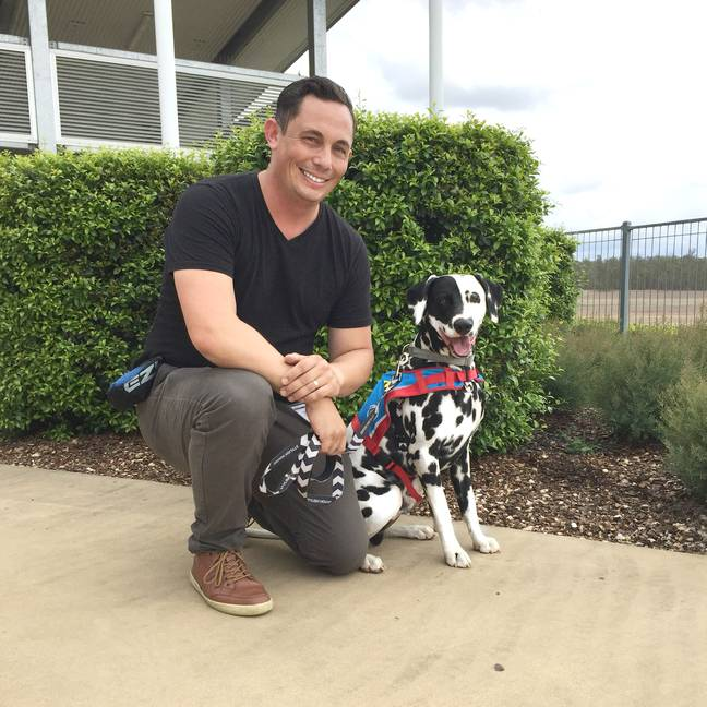 The gorgeous Dalmatian was originally a present for Ethan's dad, Rick (Credit: Caters)