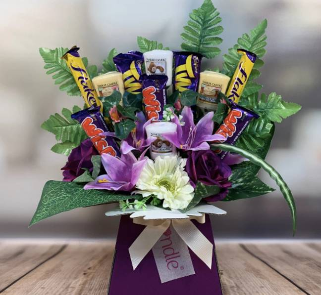 The bouquets are also stuffed with chocolate (Credit: Celebrate Gifts)